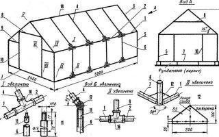 Каркас теплицы из профильной трубы: чертежи, изготовление изделия своими руками, проект конструкции, сколько весит, что можно сделать, расчет, схема, видео – выращиваем в теплице
